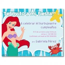 c0055 - Invitaciones de cumpleaños - Sirenita