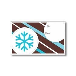 Tarjeta de navidad - Copo de nieve
