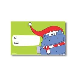 Tarjeta de navidad - Hipopótamo