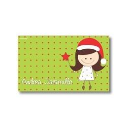 Tarjeta de navidad - Niña