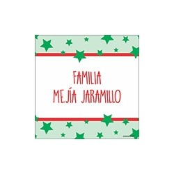 Tarjeta de navidad - familia estrellas