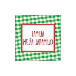 Tarjeta de navidad - familia cuadros