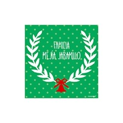 Tarjeta de navidad - familia puntos