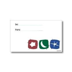 Tarjeta de navidad - estrellas