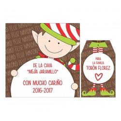 Bolsa, etiqueta y tarjeta para vino - Duende