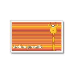 Label cards - giraffe