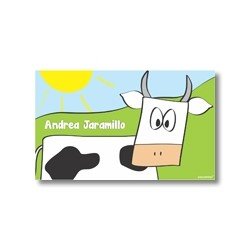 Label cards - cow
