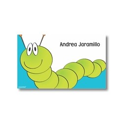 Label cards - worm