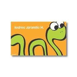 p2108 naranja - Tarjetas de presentación - Serpiente
