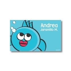 p2207 azul - Tarjetas de presentación - Peces