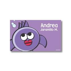 p2207 violeta - Tarjetas de presentación - Peces
