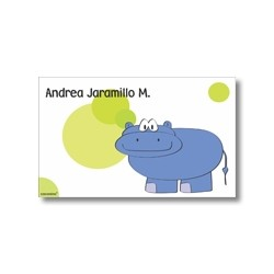 p2807 - Tarjetas de presentación - Hipopótamo