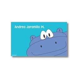 p2808 azul - Tarjetas de presentación - Hipopótamo