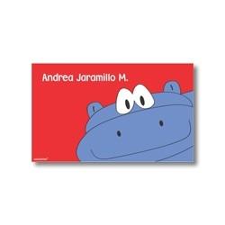 p2808 rojo - Tarjetas de presentación - Hipopótamo