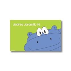 p2808 verde - Tarjetas de presentación - Hipopótamo