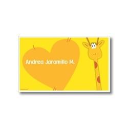 p2810 amarillo - Tarjetas de presentación - Jirafa