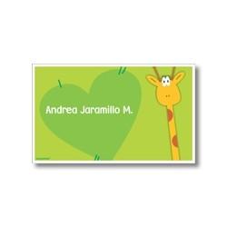 p2810 verde - Tarjetas de presentación - Jirafa