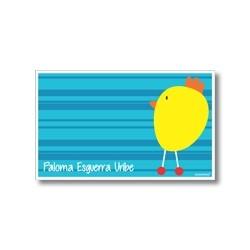 p2909 azul- Tarjetas de presentación - Pollito