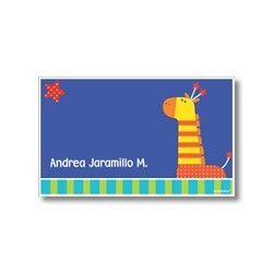 Label cards - zebra