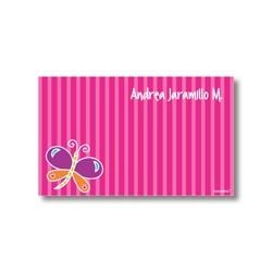 p3401 fucsia - Tarjetas de presentación - Mariposa