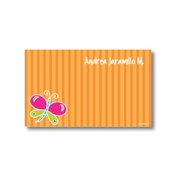 p3401 naranja - Tarjetas de presentación - Mariposa