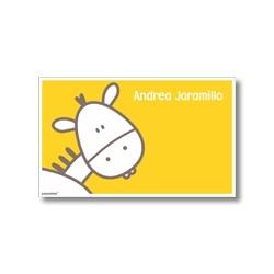 p3804 amarillo - Tarjetas de presentación - Burro
