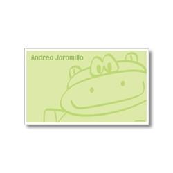 p3806 verde - Tarjetas de presentación - Hipopótamo