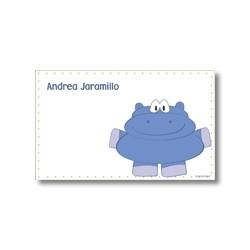 p4005 - Tarjetas de presentación - Hipopótamo
