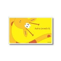 p4501 amarillo - Tarjetas de presentación - Jirafa
