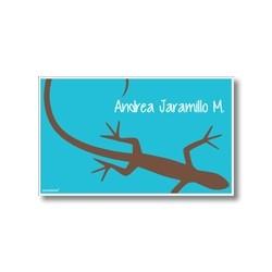 Label cards - lizard