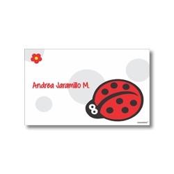 p4603 - Tarjetas de presentación - Mariquita
