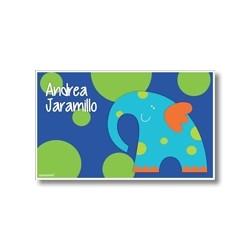 p4802 azul - Tarjetas de presentación - Elefante