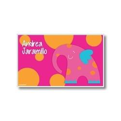 p4802 fucsia - Tarjetas de presentación - Elefante