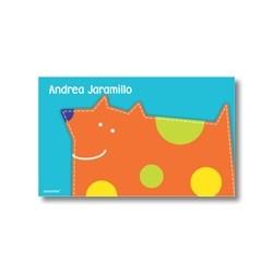 p4804 naranja- Tarjetas de presentación - Perro