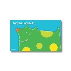p4804 verde - Tarjetas de presentación - Perro