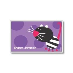 p4909 violeta - Tarjetas de presentación - Gato