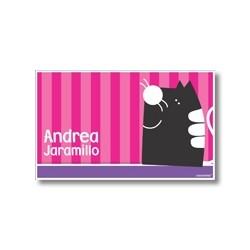 p4910 fucsia - Tarjetas de presentación - Gato