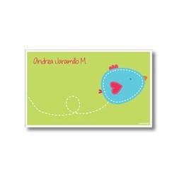 p5003 verde - Tarjetas de presentación - Pájaro