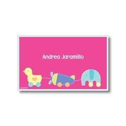 Label cards - duck plane elephant