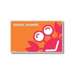 p5708 naranja - Tarjetas de presentación - Cangrejo