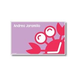 p5708 violeta - Tarjetas de presentación - Cangrejo
