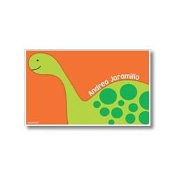 p6507 naranja - Tarjetas de presentación - Dinosaurio