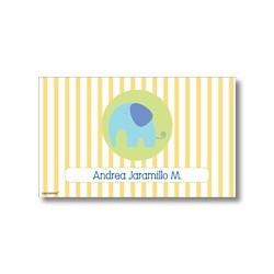 p6701 amarillo - Tarjetas de presentación - Elefante