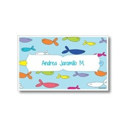 Label cards - fish