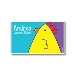 Label cards - chick