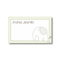 p7203 verde - Tarjetas de presentación - Elefante