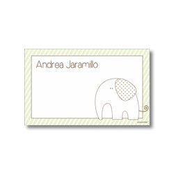 Label cards - elephant