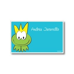 Label cards - frog