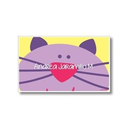 Label cards - cat