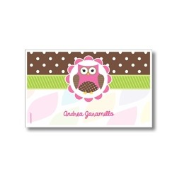 Label cards - owl